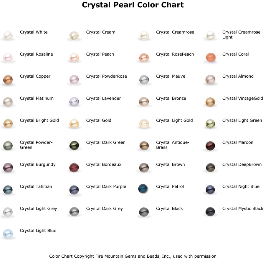 Inspirations by lw pearl color chart pearl colors nvjuhfo Images